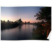 Brisbane City at Dusk Poster