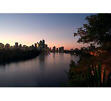 Brisbane City at Dusk Photographic Print