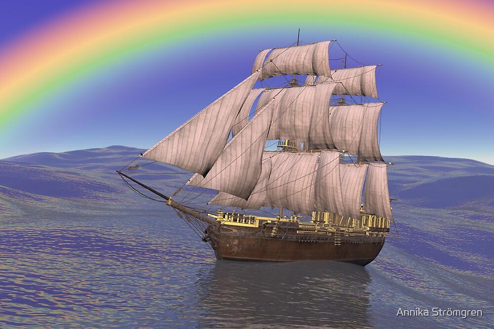 Rainbow ship by Annika Strömgren