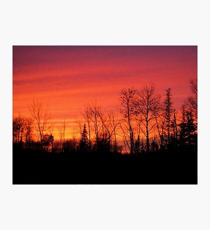 Burning Sky Photographic Print