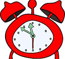 red alarmclock by siloto