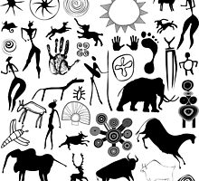 cave paintings - primitive art by siloto
