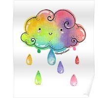 Whimisical Rainbow Showers Poster