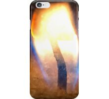 Festive candle light flame iPhone Case/Skin