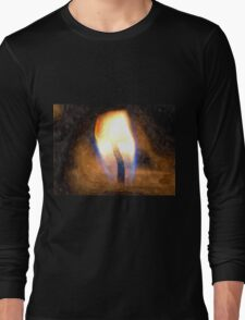 Festive candle light flame Long Sleeve T-Shirt