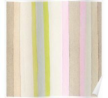 Striped watercolor background Poster