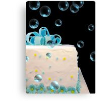 Happy Birthday Bubbles Canvas Print