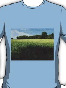 Green wheat field landscape T-Shirt