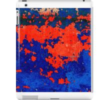 Rusty grunge aged steel iron paint background  iPad Case/Skin