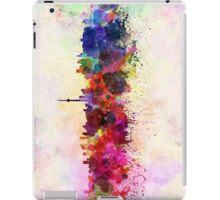 Toronto skyline in watercolor background iPad Case/Skin