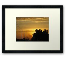 Semi Sunrise Framed Print
