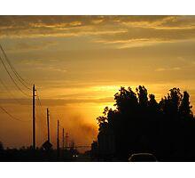 Semi Sunrise Photographic Print