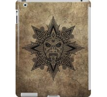 Ancient Stone Mayan Sun Mask  iPad Case/Skin