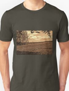 Blooming yellow rape field summer landscape T-Shirt