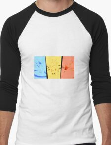 Minimalist Pokemon Legendary Birds Men's Baseball ¾ T-Shirt