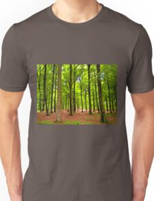 Beautiful lush Forest landscape Unisex T-Shirt
