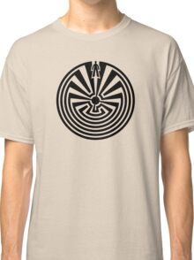 Man in the Maze, Journey through life, I'itoi, Papago Classic T-Shirt