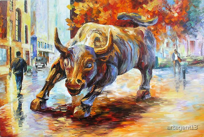 Wall Street Bull By Daniel Wall by artagent13