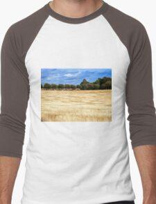 Beautiful wheat field landscape Men's Baseball ¾ T-Shirt