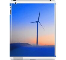 Alternative energy wind mills in the snow iPad Case/Skin
