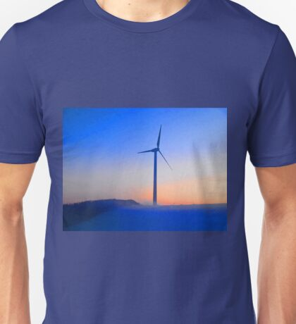 Alternative energy wind mills in the snow Unisex T-Shirt