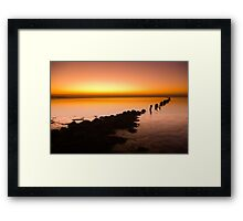 A beautiful evening on the coast Framed Print