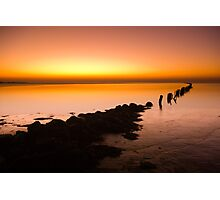 A beautiful evening on the coast Photographic Print
