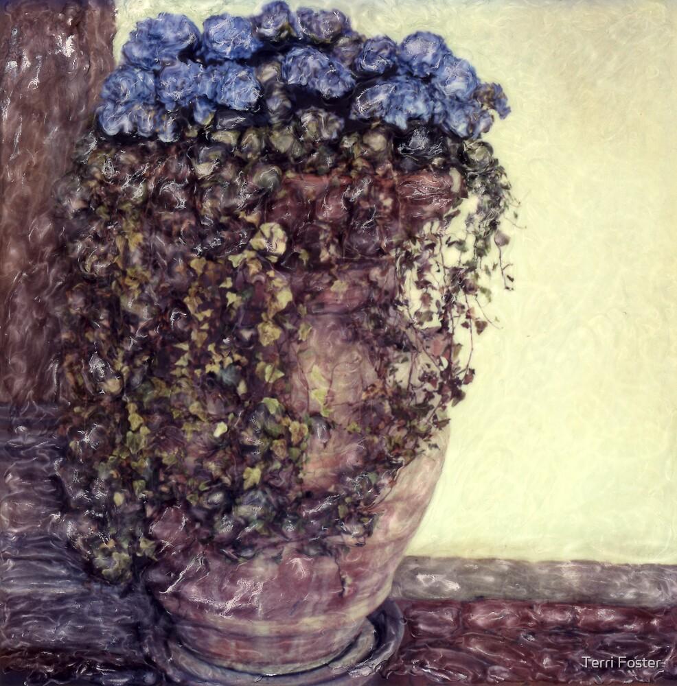 Hydrangea - Polaroid Manipulation by Terri Foster
