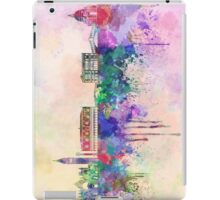 Venice skyline in watercolor background iPad Case/Skin