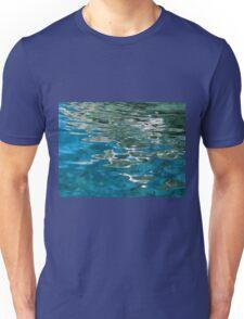 Blue water ripples background Unisex T-Shirt