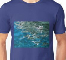Blue water ripples background Unisex T-Shirt