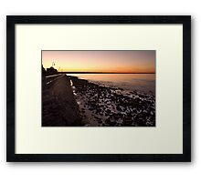 Shorncliffe Sunset Framed Print