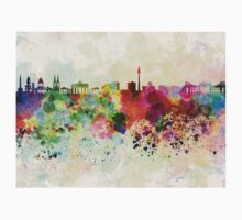 Berlin skyline in watercolor background Kids Clothes