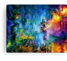 abstract art, blue, purple, yellow, white, red Canvas Print