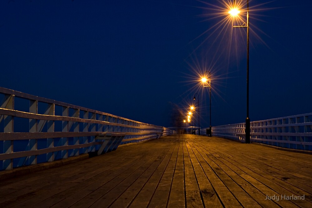 Shorncliffe Pier at Night by J Harland