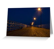 Shorncliffe Pier at Night Greeting Card