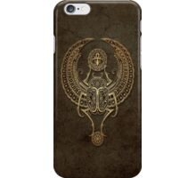 Stone Winged Egyptian Scarab Beetle with Ankh  iPhone Case/Skin