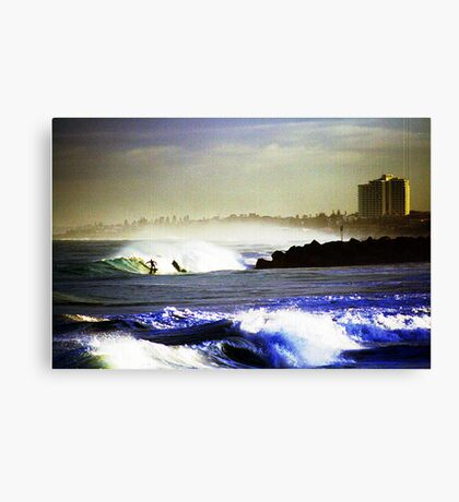 Drop Knee Observation City Whatching Canvas Print