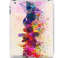 Valencia skyline in watercolor background iPad Case/Skin