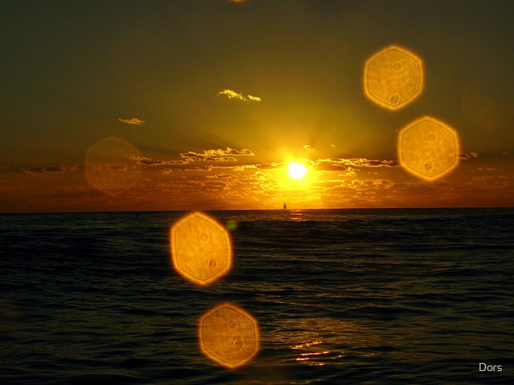 Ocean Sun Sail Horizon by Dors