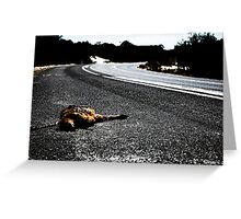 Road Kill. Greeting Card