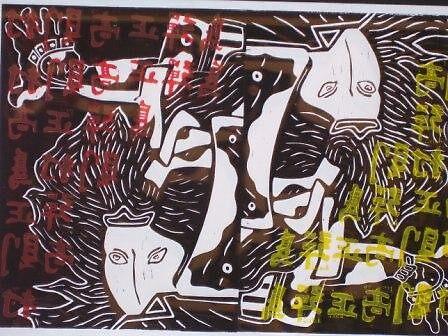 japanese linocut 2 by gibbsy69