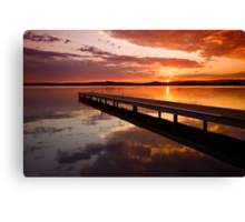 Warners Bay Sunset 2 Canvas Print