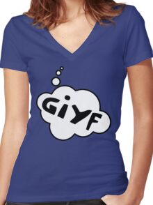 GIYF by Bubble-Tees.com Women's Fitted V-Neck T-Shirt
