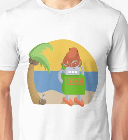 Octopus Frightened by a Mouse Unisex T-Shirt