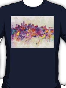 New York skyline in watercolor background T-Shirt