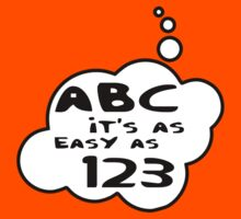 ABC it's as easy as 123 by Bubble-Tees.com by Bubble-Tees
