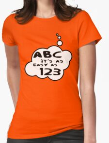 ABC it's as easy as 123 by Bubble-Tees.com Womens Fitted T-Shirt