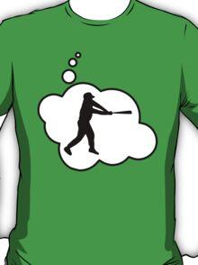 Baseball Player Swing by Bubble-Tees.com T-Shirt