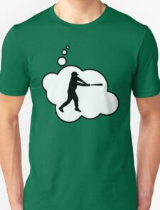 Baseball Player Swing by Bubble-Tees.com T-Shirt